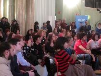Público en los recitales de poesía del Festival Eñe.