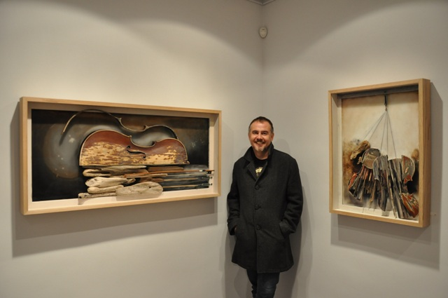 El artista leonés Karlos Viuda. Fotografía: Ángel Cantero
