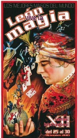 """Cartel XII edición """"León Vive la Magia""""."""