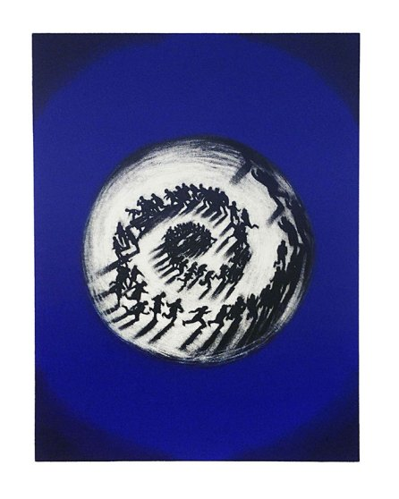 """Las vueltas"" (2002). Resina y manera negra. Ed. 70 de 100. 1.200 euros (+ IVA)."