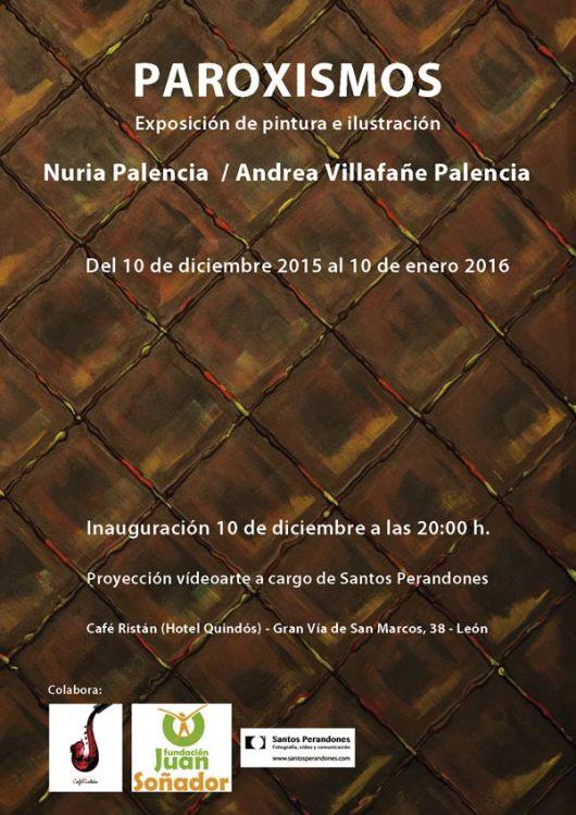 """El cartel de la exposición """"Paroxismos"""", de Nuria Palencia y Andrea Villafañe Palencia."""