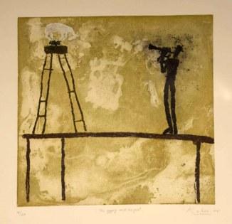 Obra del artista Kabir donada para la Rifa.