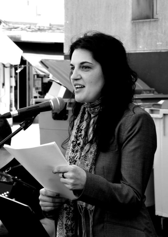 Olga Novo en la Semana de la Poesía Salvaxe de Ferrol, en 2011.