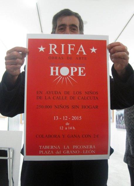 Rifa de Obras de Arte a favor de la Fundación Hope en La Piconera (León).