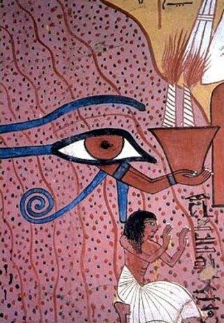 Pintura mural sobre yeso de la cámara funeraria del artesano Pashedu, en Tebas.
