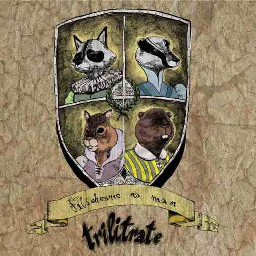 "Portada del disco de Trilitrate ""Faláchesme na Man"" (2013)."