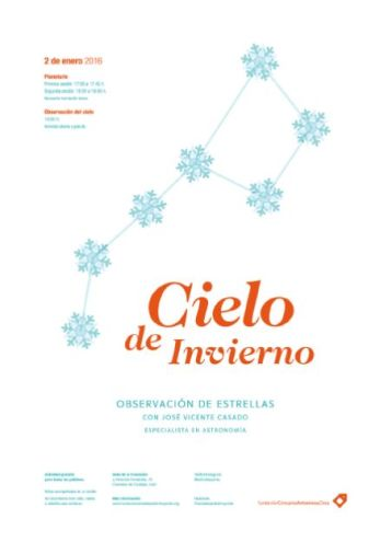 """Cartel """"Cielo de invierno""""."""