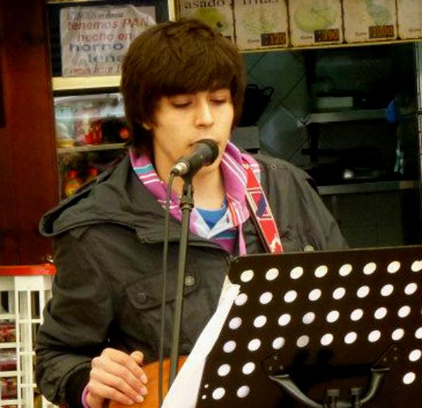 Pedro Campos, durante una de sus intervenciones en la Semana de la Poesía Salvaxe.