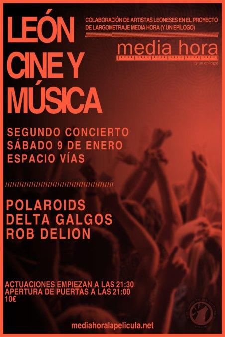 El cartel del segundo concierto.