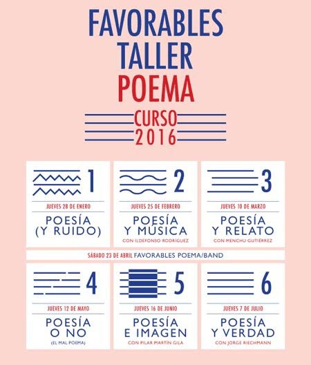 Favorables Taller Poema 2016.