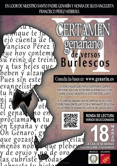 Cartel VI Certamen Genariano Versos Burlescos