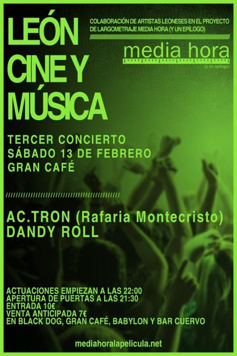 Cartel del tercer concierto de apoyo a la película.