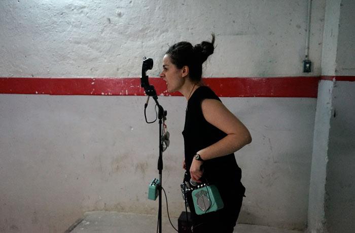 Ainara LeGardon en directo. Fotografía: Rafa Rodrigo.