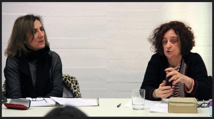 Cova Villegas y Chefa Alonso durante su conversación en el MUSAC. © Fotografía: Juan Luis García (juanluisgx).