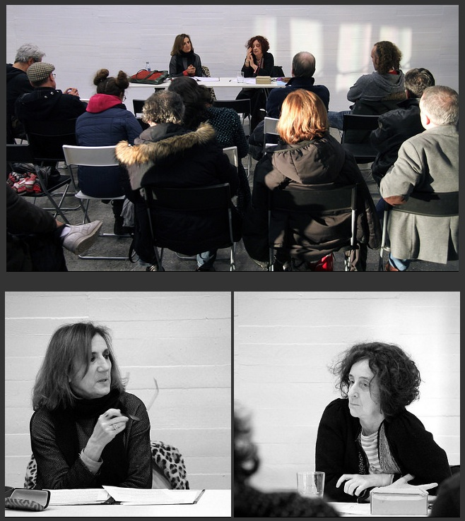 Cova Villegas y Chefa Alonso durante su conversación en el MUSAC. © Fotografías: Juan Luis García (juanluisgx).