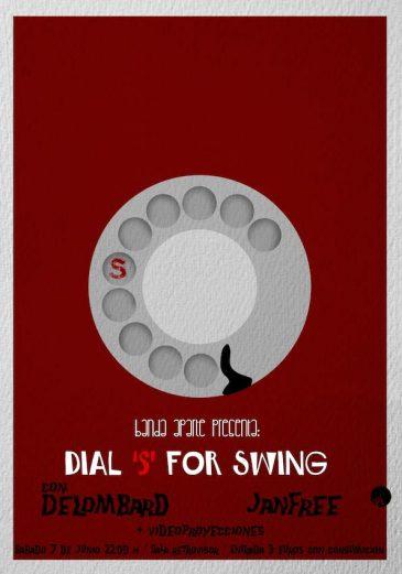 Cartel de la sesión Dial S for Swing de Banda Aparte. Gráfica: Eduardo Fandiño.