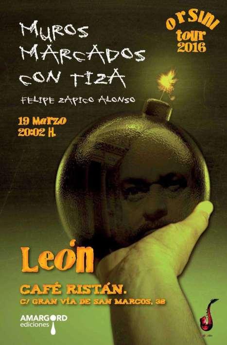 Presentación en León, el 19 de marzo.