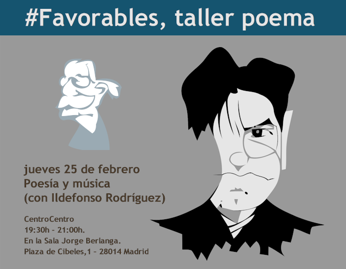 "Ildefonso Rodríguez en ""Favorables Taller Poema""."