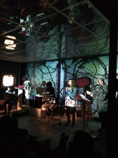 Actuación del cuarteto Sin Red en el MUSAC, dentro del festival Nombrando el porvenir (1 de junio de 2014). Fotografía: Andrés Edo.