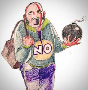 """Felipe Zapico: """"Recupero este dibujo de Eva de hace muchos años, para que se vea que hay cosas en las que no cambio, en la Orsini y en el NO""""."""