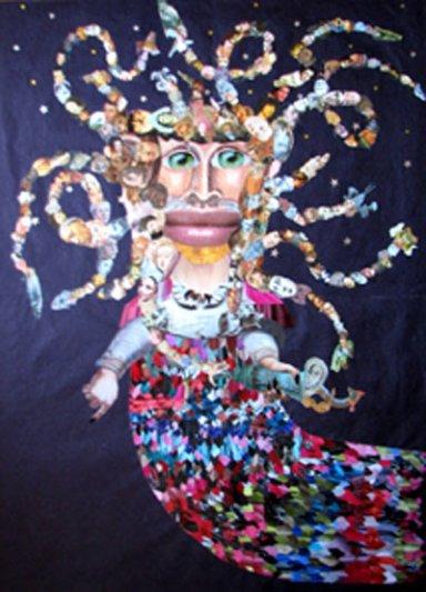 """""""La medusa"""". Obra de Luis Machón."""
