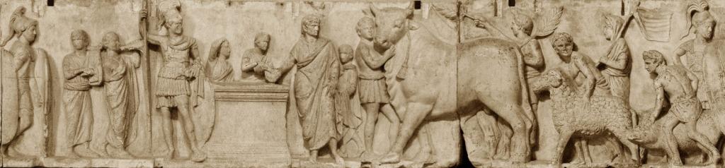 Fragmento del altar de Domitius Ahenobarbus (Museo del Louvre).