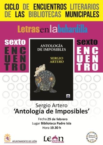 """Cartel """"Antología de Imposibles""""."""