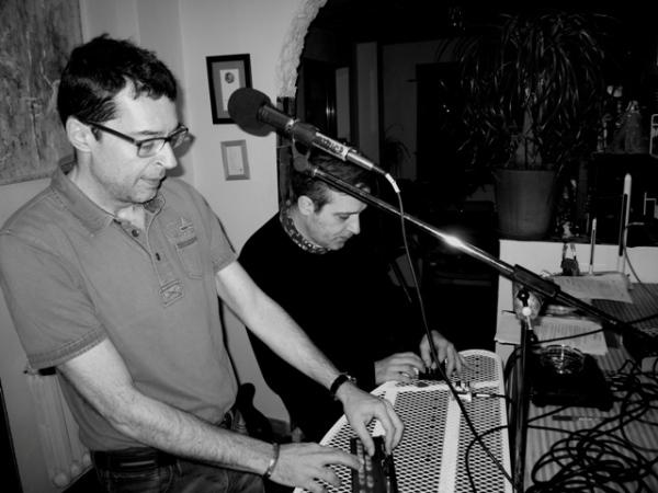 javier Iriso y Carlos Luxor en un ensayo.