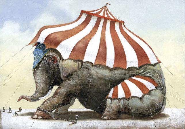 © Ilustración de Roger Olmos para una exposición de Capital Animal.