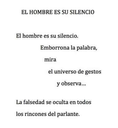 """Último poema del libro """"Incluso sin palabras"""", de J. Dámaso."""