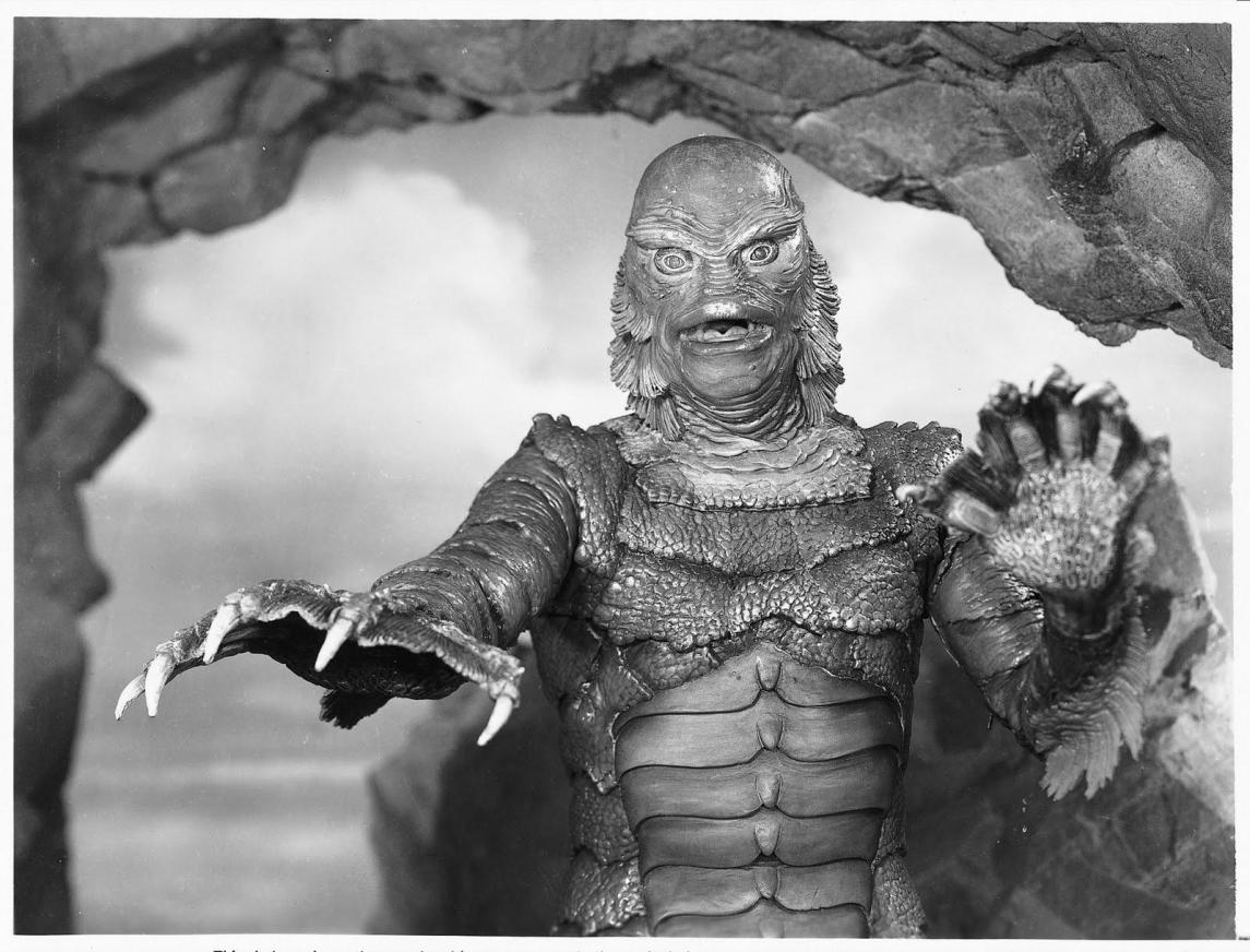 Ben Chapman en The Creature from Black Lagoon. Fotografía: : Página web de Ben Chapman.