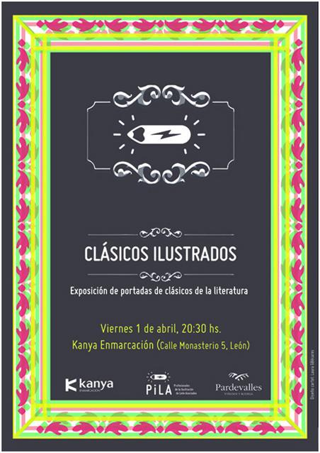 Cartel Clásicos ilustrados.