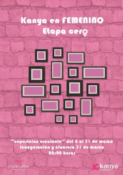 Cartel Kanya en Femenino.