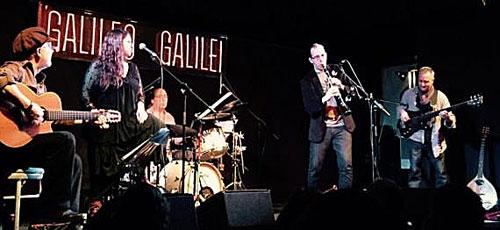 La Musgaña durante un concierto en la sala madrileña Galileo Galilei.
