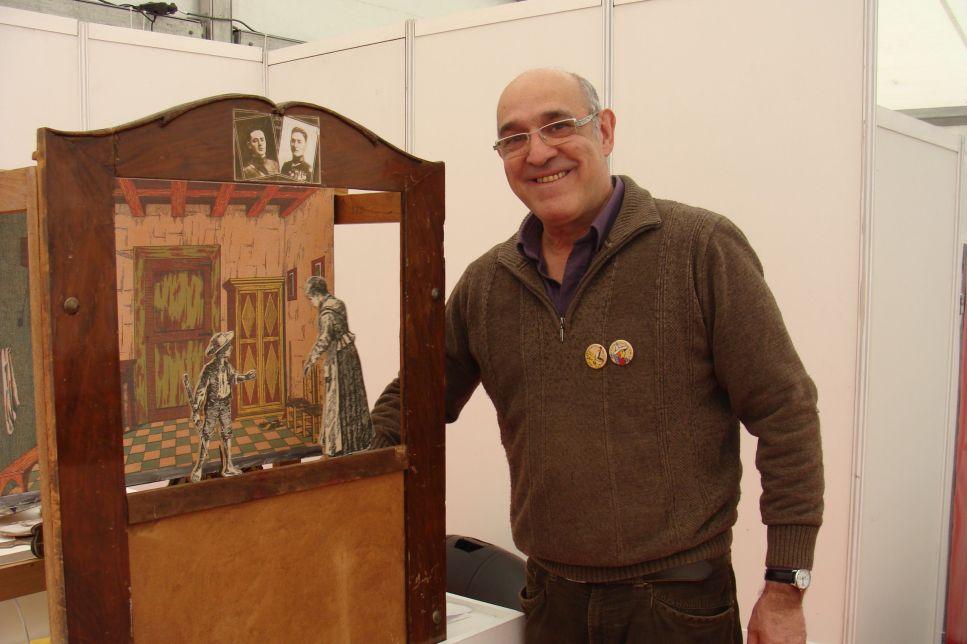 Paco Paricio, codirector de la compañía Titiriteros de Binéfar. Fotografía: L. Fraile