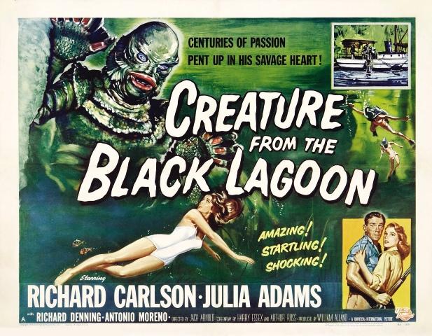 Cartel de The Creature From the Black Lagoon. Fotografía: : Página web de Ben Chapman