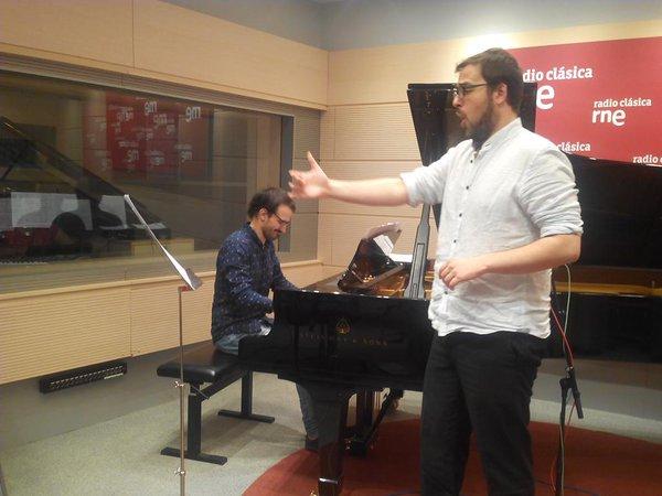 Sebastiá Peris y Jesús López Blanco en una actuación en directo.