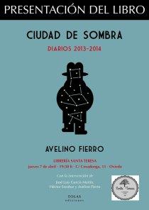 Cartel de la presentación en Oviedo.