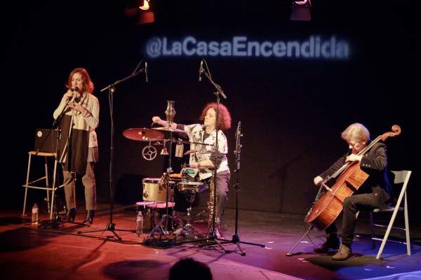 El trío Molimo durante un concierto en Madrid.