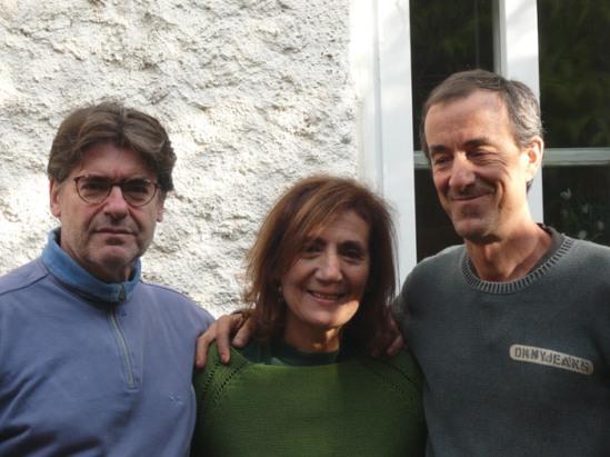 El poeta y músico Ildefonso Rodríguez, la cantante Cova Villegas y el pianista Fernando Ballarín.