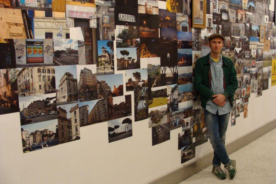 Jorge Peligro, autor de la exposición. Fotografía: L. Fraile