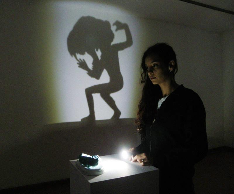 """""""Rara avis"""". Exposición de Laura Salguero en el CLA. Foto: E. Otero."""