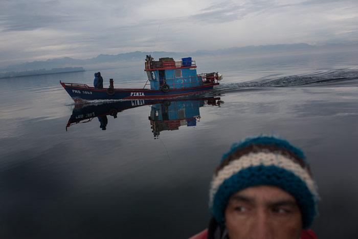 Imagen de una expedición de Greenpeace a Chiloé (Chile) a primeros de mayo de 2016. © Fotografía: Greenpeace/Alejandro Olivares.