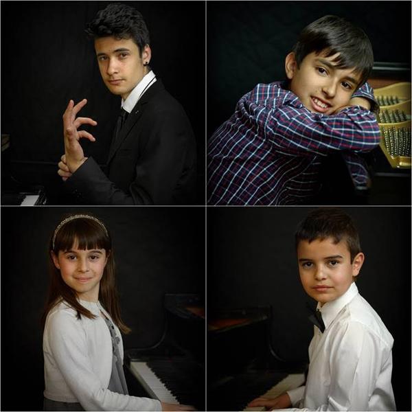 Jaime, Miguel, Claudia y Jorge, alumnos de la Escuela de Música Eutherpe de León.