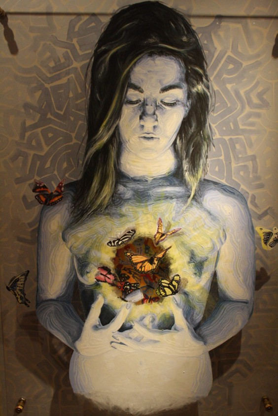 "Obra de la exposición ""Expiración"" en Cearcal. Foto: Ana Blanco."