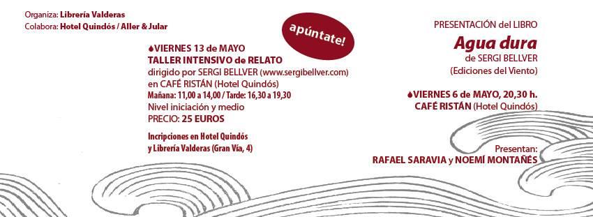 Taller de escritura de Sergi Bellver en León.