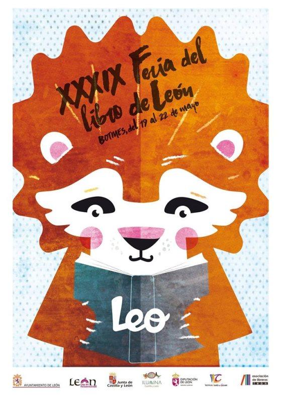 El cartel de la Feria del Libro de León 2016 es obra del artista Pablo García (Pablo Je Je).