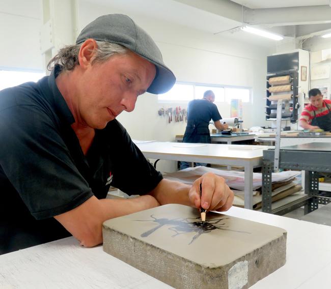 Luis Moro en el taller Blackstone.