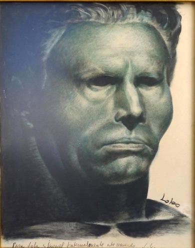 """""""Retrato de Buenaventura Durruti"""". Baltasar Lobo. 1937."""