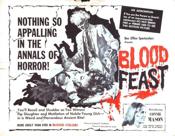 Cartel de Blood Feast.